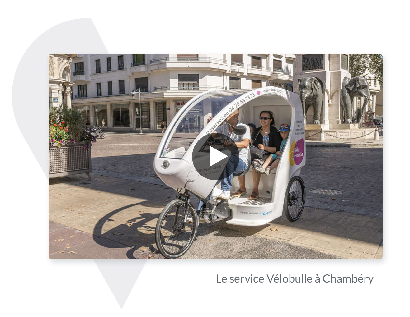 triporteur vélobulle Chambéry