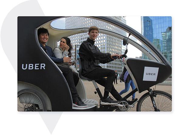 pedicab to transport people