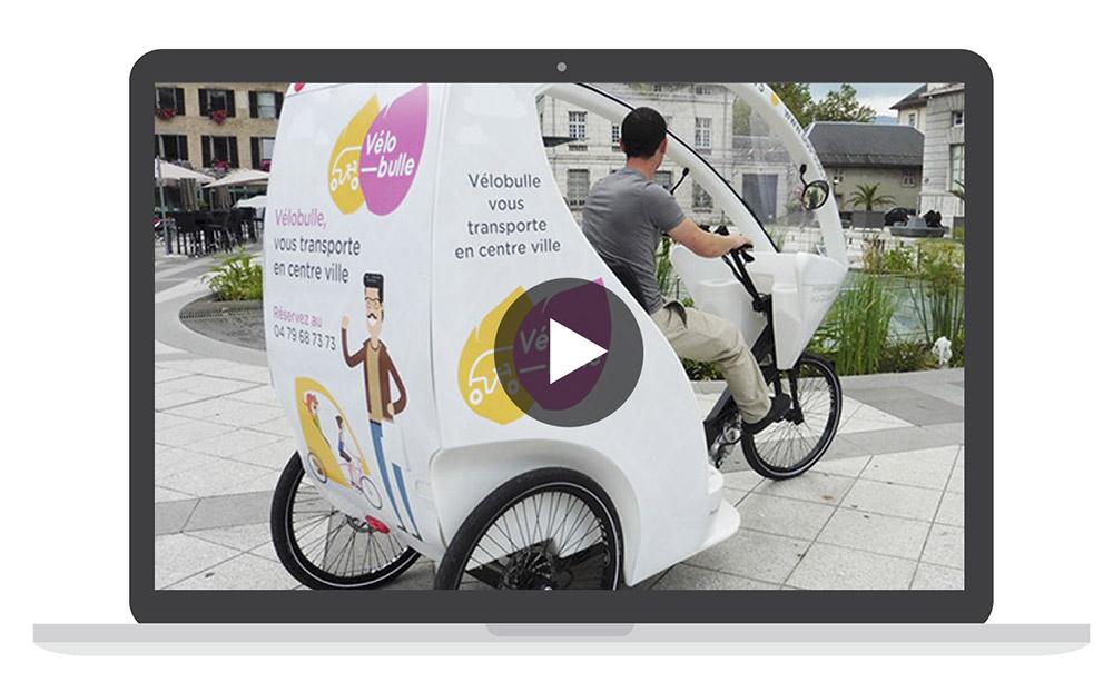 pedicab taxi vélobulle Chambéry