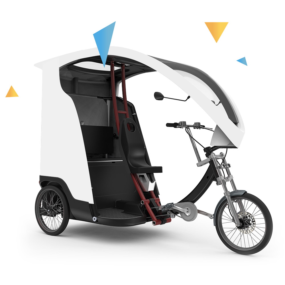 buy an electric pedicab taxi bike to transport passengers. Black Bedroom Furniture Sets. Home Design Ideas