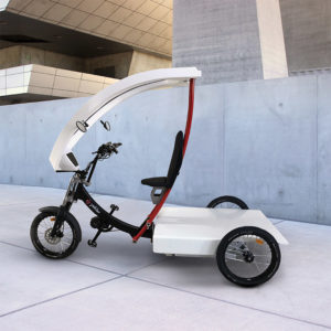 Buy an electric pedicab/taxi bike to transport passengers