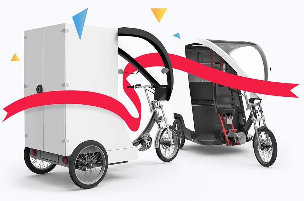 triporteurs Yokler U (cargobike) et X (vélotaxi)
