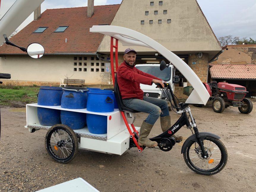 Triporteur électrique utilitaire de collecte bio déchets
