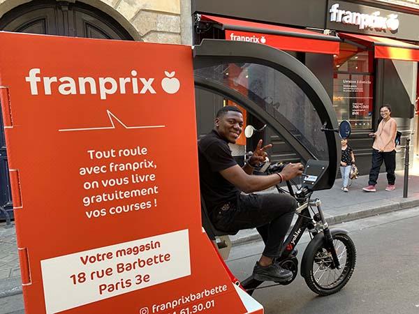 Franprix déploie les livraisons en triporteurs à Paris