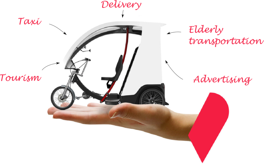 Opportunities created by an electric pedicab