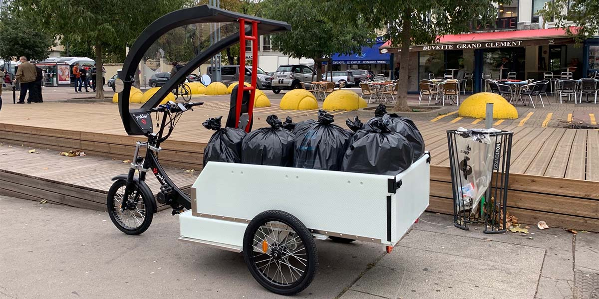 triporteur collecte poubelle