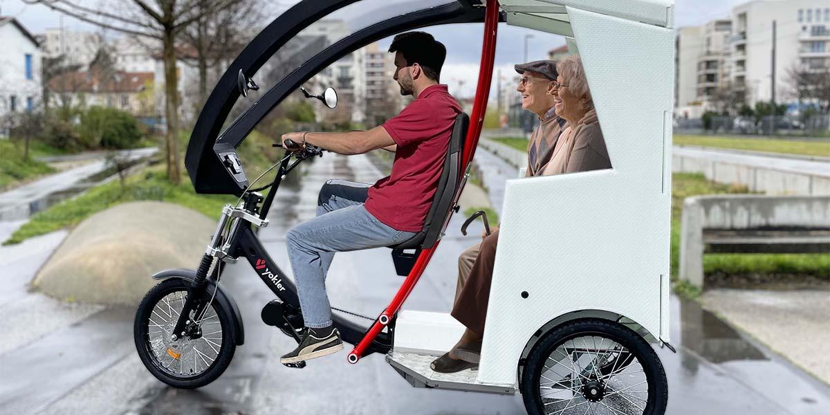 Yokler T vélotaxi pedicab transport de passagers
