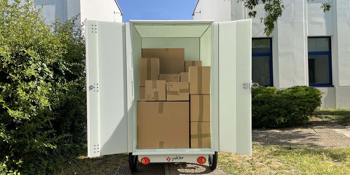 Triporteur grand coffre 1,3 mètre cube logistique dernier kilometre